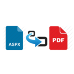 How to Open  & Convert .aspx file to .pdf file