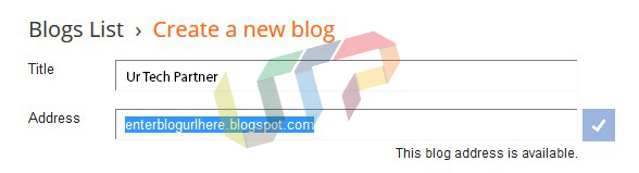 Create a New Blog on Blogger.com