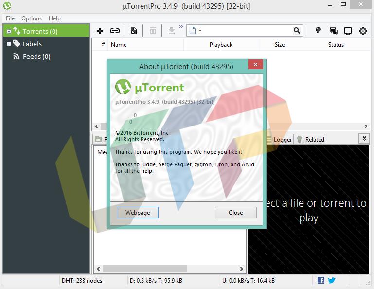 uTorrent Pro 3.4.9 Build 43295
