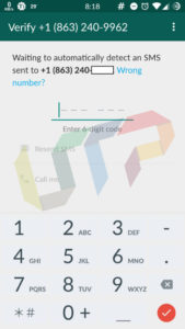 WhatsApp Account with Fake US Number