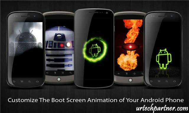 How to change android boot animation