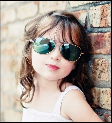 Cute Little Girl with Goggles