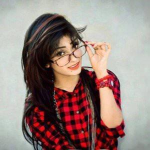 Cute Stylish Girl with Spacks DP