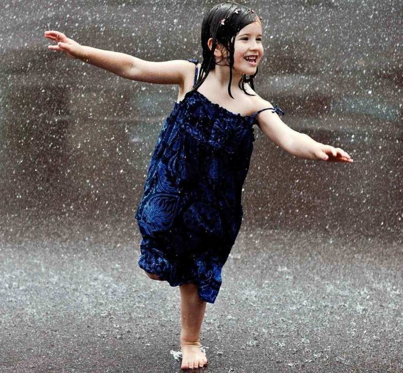 Girl in Rain Profile DP for Whatsapp and Facebook